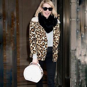 Coach Wild Beast short coat leopard shearling NEW